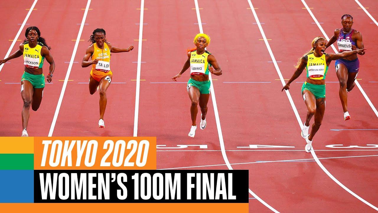 World news tokyo 2020 women's 100m final